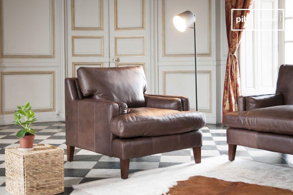 Leren fauteuil Sanary