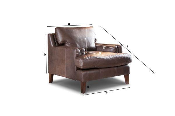 Leren fauteuil sanary tijdloos van full grain leer pib