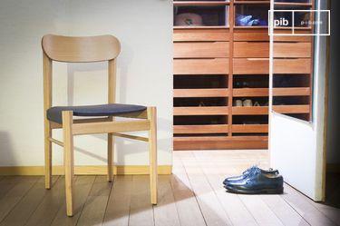 Lichte houten stoel Elena