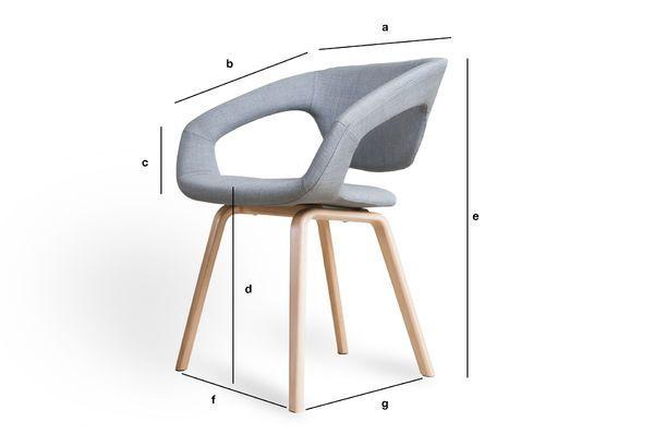 Productafmetingen Light Tobago fauteuil
