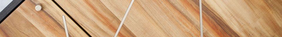 Benadrukte materialen Linéa houten dressoir