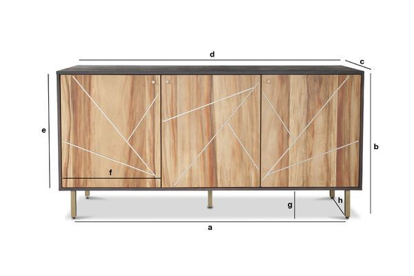 Productafmetingen Linéa houten dressoir