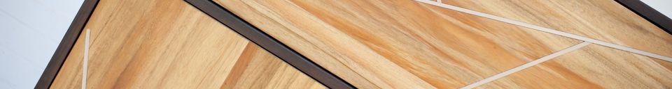 Benadrukte materialen Linéa houten kast