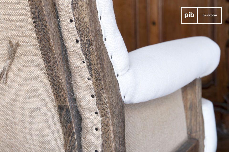 De linnen Edmond stijlvolle shabby chic landelijke fauteuil voegt een vintage touch toe aan je