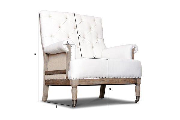 Productafmetingen Linnen Edmond fauteuil
