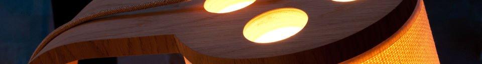 Benadrukte materialen Lodge houten vloerlamp