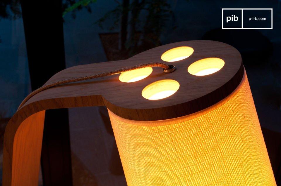 Lodge houten leeslamp