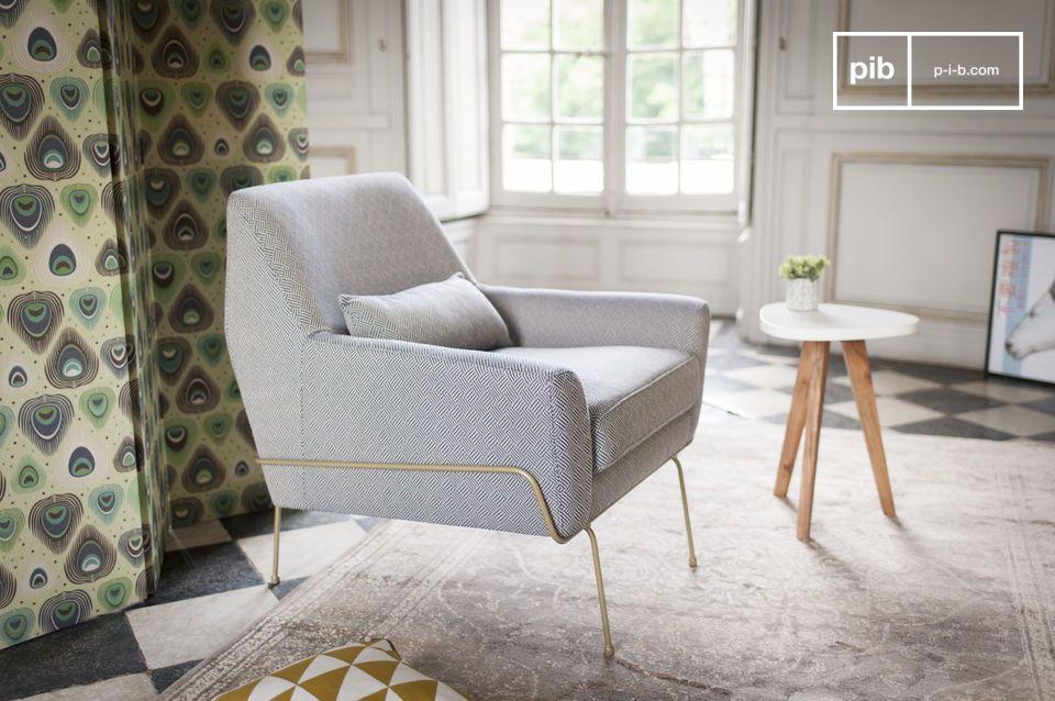 Een retro chique look en ideaal comfort: de Hilda lounge stoel is een goed voorbeeld van