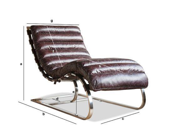 Productafmetingen Lounge stoel Weimar