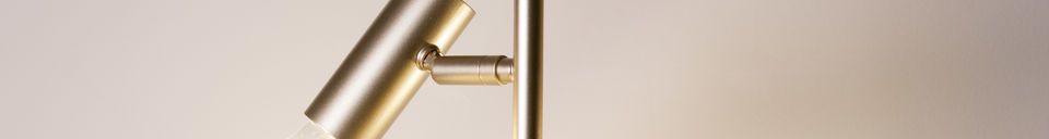 Benadrukte materialen Lubeck retro vloerlamp