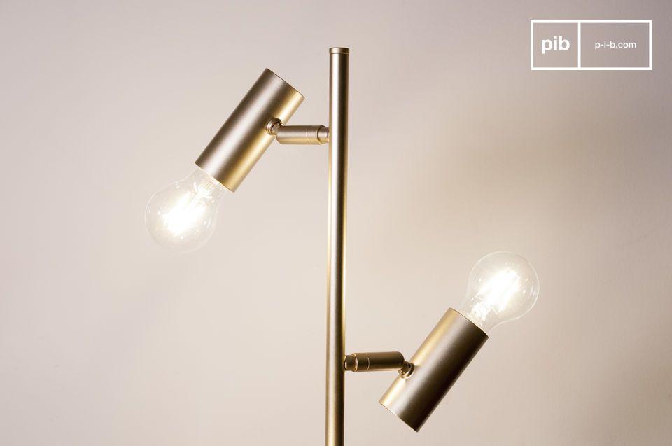 Een retro vloerlamp met een elegante uitstraling