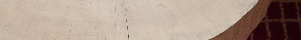 Benadrukte materialen Luka natuurlijke boomstam salontafel
