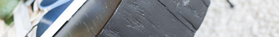 Benadrukte materialen Luka Zwarte natuurlijke boomstam Koffietafel
