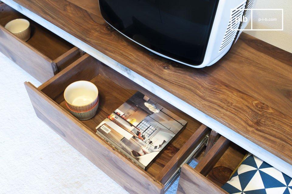 Dit Tv meubel zal een prominente rol spelen in de decoratie van je woonkamer