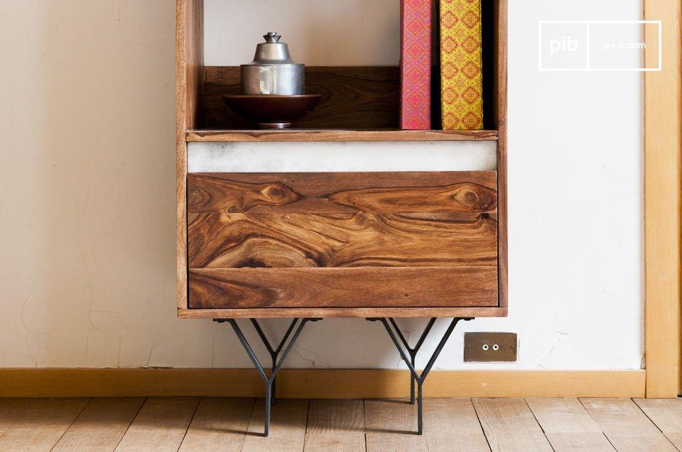 Deze boekenkast zal een prominente rol spelen in elke kamer
