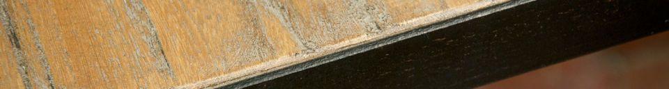 Benadrukte materialen Manhattan vierkante tafel