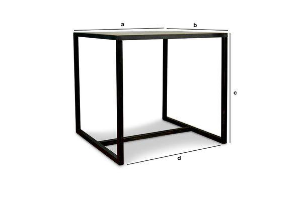 Productafmetingen Manhattan vierkante tafel