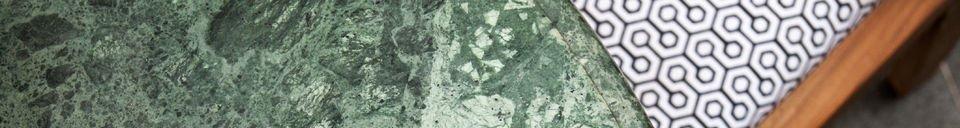Benadrukte materialen Marble eettafel
