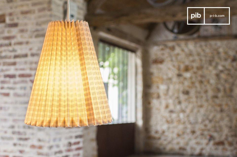 De Mark shabby chic landelijke hanglamp is een lichte lamp die zowel charmant als simpel is