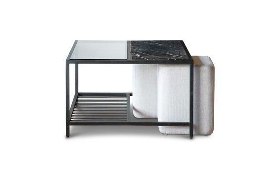Marmeren salontafel Noora en zijn poefs Productfoto