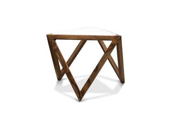 Marmori driehoekige bijzettafel Productfoto
