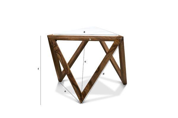 Productafmetingen Marmori driehoekige bijzettafel