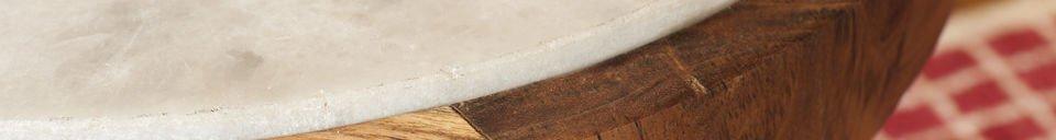 Benadrukte materialen Marmori ronde bijzettafel