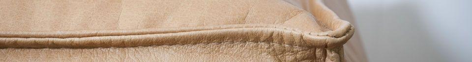 Benadrukte materialen Marslinden poef van leer