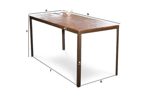 Productafmetingen Masaï tafel