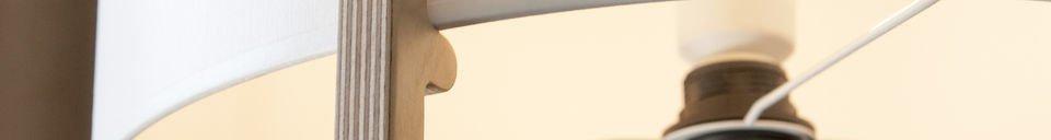 Benadrukte materialen Maspo vloerlamp