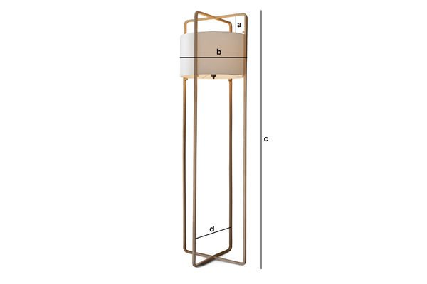 Productafmetingen Maspo vloerlamp