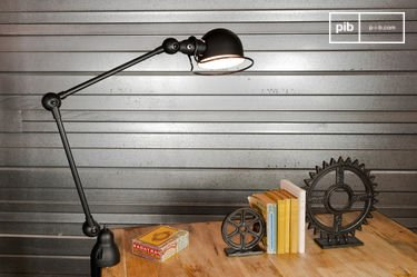 Matzwarte Jieldé Loft lamp met klem