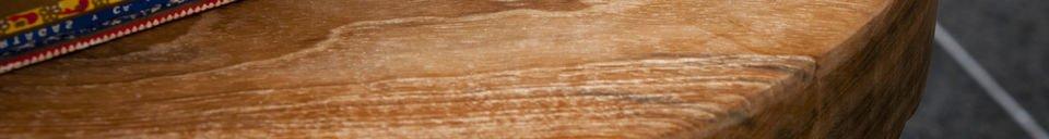 Benadrukte materialen Maverick houten kruk