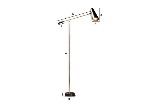 Productafmetingen Memphis vloerlamp