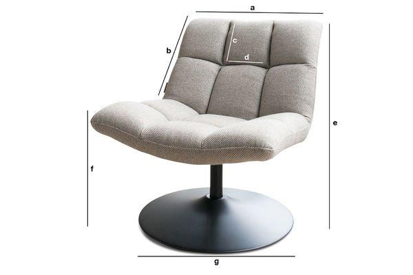 Productafmetingen Mesh lounge stoel