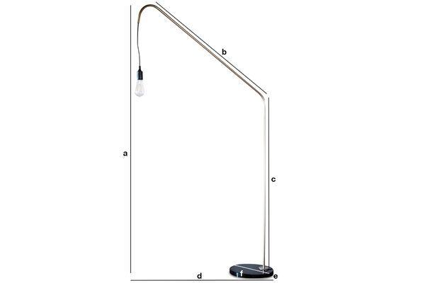 Productafmetingen Messing en marmeren Vloerlamp Mogens