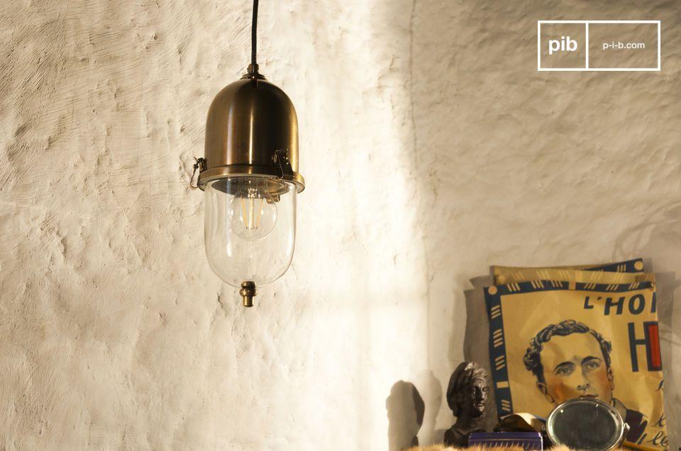 De Messing hanglamp Kapsula