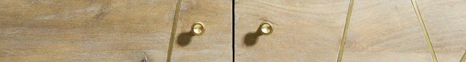 Benadrukte materialen Messinki houten dressoir