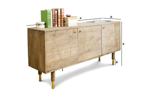 Productafmetingen Messinki houten dressoir