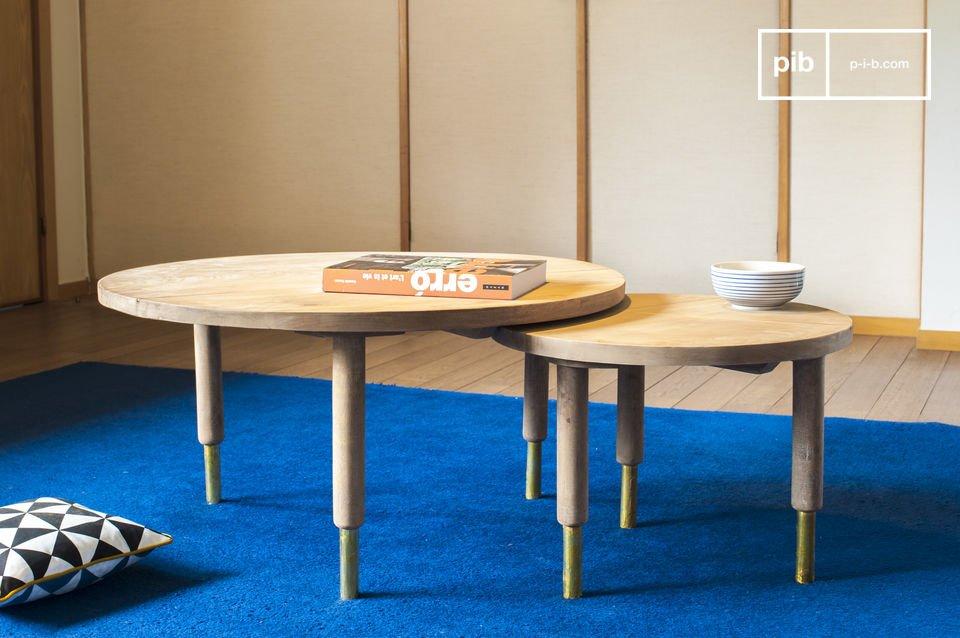 De Messinki salontafel is dankzij een paar gouden details een zeer origineel meubelstuk