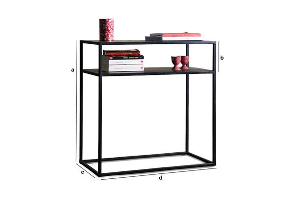 Productafmetingen Metalen Myriam sidetable