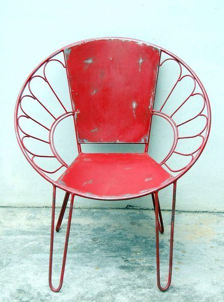 Metalen zilveren industriele stoelen