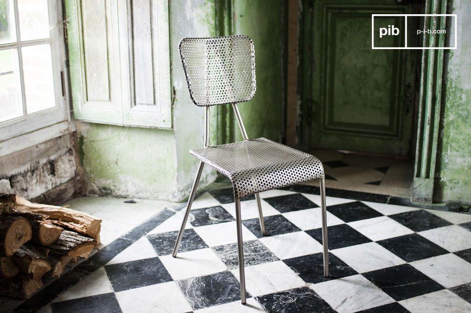 Métalo grijze stoel