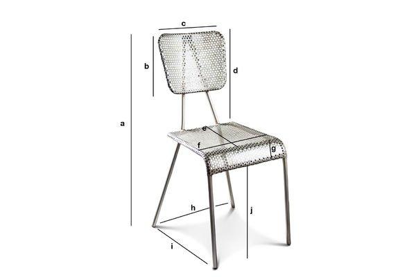 Productafmetingen Métalo grijze stoel