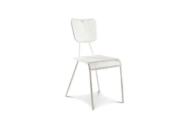 Métalo witte stoel Productfoto