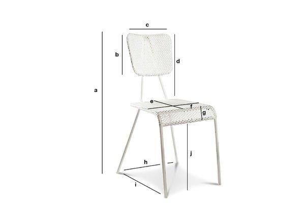 Productafmetingen Métalo witte stoel