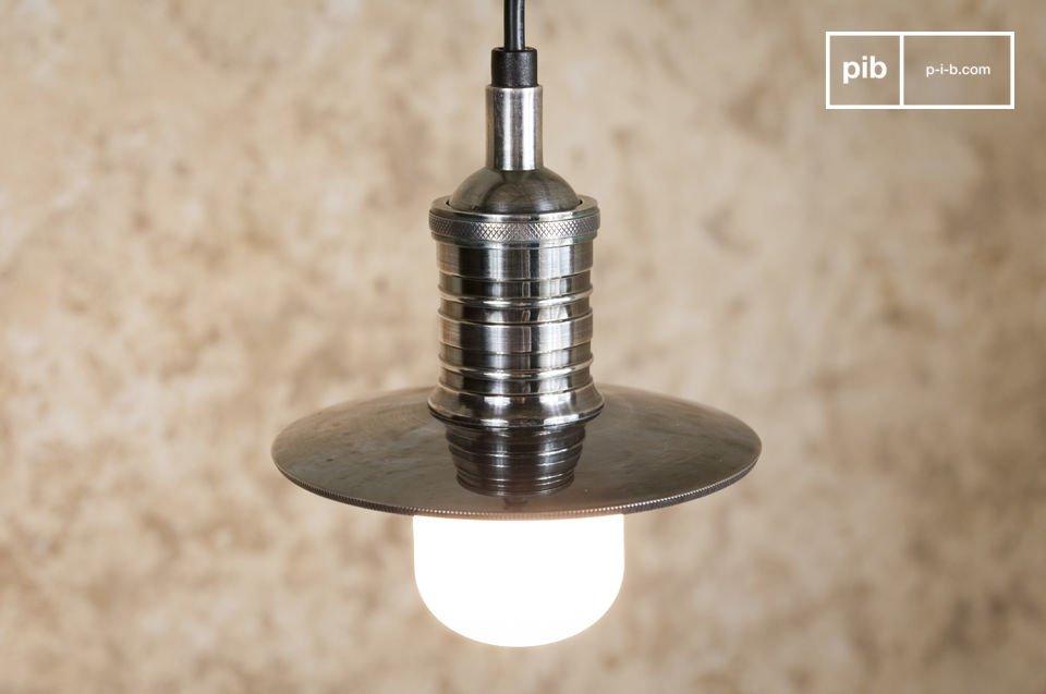 Open hanglamp van verzilverd koper