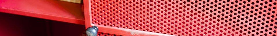 Benadrukte materialen Minoterie rode kast