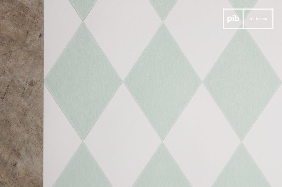 Voeg een vintage touch toe aan je interieur met een kleurrijke en speelse twist door dit vrolijke behang!  Het behang heeft een origineel motief dat is geïnspireerd op de stijl uit de jaren \'50