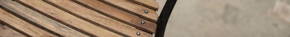 Benadrukte materialen Mistral stoel